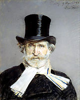 Portrait of Guiseppe Verdi (1813-1901)  , boldini