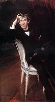 Portrait of James Abbott McNeil Whistler (1834-1903)  , 1897, boldini