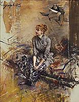 Portrait Of Madame Gabrielle Rejane, boldini