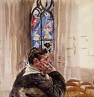 Portrait of a Man in Church, 1900, boldini
