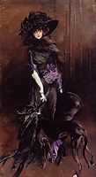 Portrait of the Marchesa Luisa Casati with a Greyhound, 1908, boldini