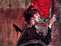 The Red Curtain, boldini