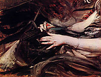 Sewing Hands of a Woman, boldini