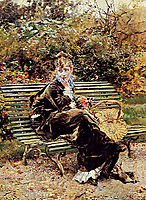 Sitting in the Garden, boldini