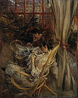 Two women are sewing, boldini