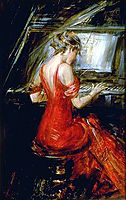 The Woman in Red, boldini