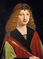 Portrait of a Youth Holding an Arrow, 1510, boltraffio