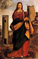 St. Barbara, 1499, boltraffio