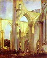 Abbey of St. Berlin, near St. Omer, 1823, bonington