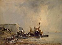 Boats by the Normandy Shore, 1823, bonington