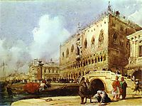 The Doge-s Palace, Venice, 1827, bonington