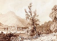 Lake Brientz and Interlaken, 1826, bonington