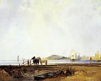 Landscape near Quilleboeuf, c.1825, bonington
