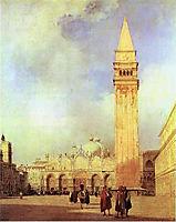 Piazza San Marco, Venice, 1827, bonington