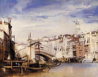 The Rialto, Venice, 1826, bonington