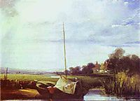 River Scene in France, c.1825, bonington