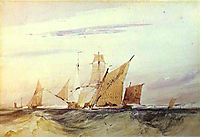 Shipping Off the Coast of Kent, 1825, bonington