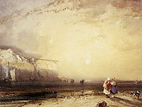 Sunset in the Pays de Caux, 1828, bonington