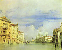 Venice. The Grand Canal., 1827, bonington