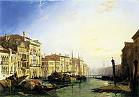 Venice Grand Canal, Sunset, bonington