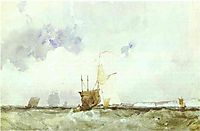 Vessels in a Choppy Sea, c.1824, bonington