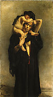 An Egyptian Peasant Woman and Her Child, 1870, bonnat