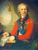 Portrait of Alexeï Ivanovitch Vassiliev, 1800, borovikovsky