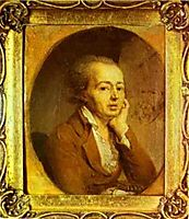 Portrait of the Artist Dmitry Levitzky, 1796, borovikovsky