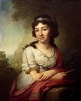 Portrait ofCatherineVasilevnyTorsukovoy, 1795, borovikovsky