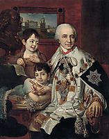 Portrait of Count G.G. Kushelev, 1801, borovikovsky