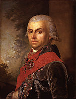Portrait of D. P. Troschinsky, 1799, borovikovsky