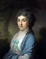 Portrait of Ekaterina Aleksandrovna Novosiltseva, borovikovsky