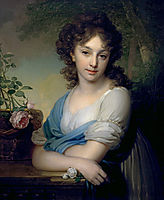 Portrait of Elena Alexandrovna Naryshkina, 1799, borovikovsky