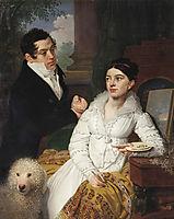 Portrait of A. G. and A. A. Lobanov Rostovsky, 1814, borovikovsky