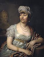 Portrait of Germaine de Stael, 1812, borovikovsky