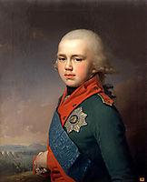 Portrait of Grand Duke Konstantin Pavlovich, 1795, borovikovsky