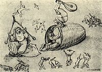 Beehive and witches, bosch