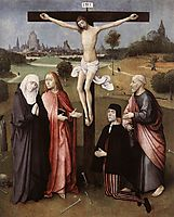 Crucifixion with a Donor, 1480-1485, bosch