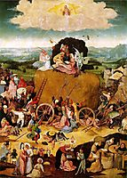 Haywain, central panel of the triptych, 1485-1490, bosch