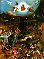 Last Judgement, central panel of the triptych, 14, bosch
