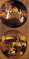 Mankind Beset by Devils (reverse of Rebel Angels panel), 1504, bosch