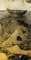 Noah-s Ark on Mount Ararat (obverse), c.1514, bosch