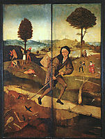 The Path of Life, outer wings of a triptych, 1500-1502, bosch