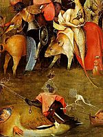 Temptation of Saint Anthony, detail of the central panel, 14, bosch