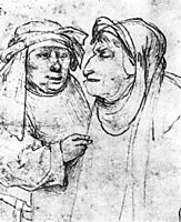 Two Caricatured Heads, bosch