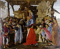 Adoration of the Magi, 1475, botticelli