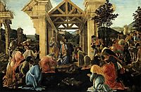 Adoration of the Magi, 1481-82, botticelli