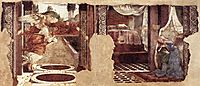 Annunciation, 1481, botticelli