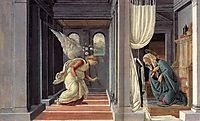 The Annunciation, 1485, botticelli