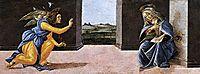 Annunciation, 1490-92, botticelli